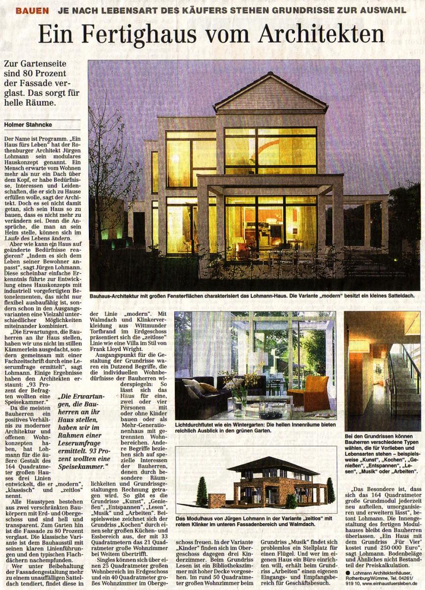 Inspirierend Architekten Häuser Sammlung Von Ein Vom | Pressespiegel